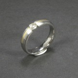 Tension ring, titanium, with diamond, approx. 0.50 ct.