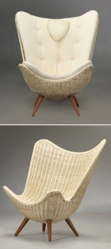 Knud Vinther - Corollo.dk 3 lounge chair with white cushion