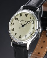 Jaeger-LeCoultre. Vintage men's watch in steel with silver face, approx. 1950s