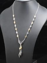 18kt Rizit bi-colour gold necklace