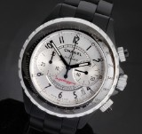 Chanel 'J12 Superleggera'. Ladies chronograph, black ceramic, with date