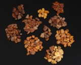 Samling Danske, rav klumper ca. 360 gram