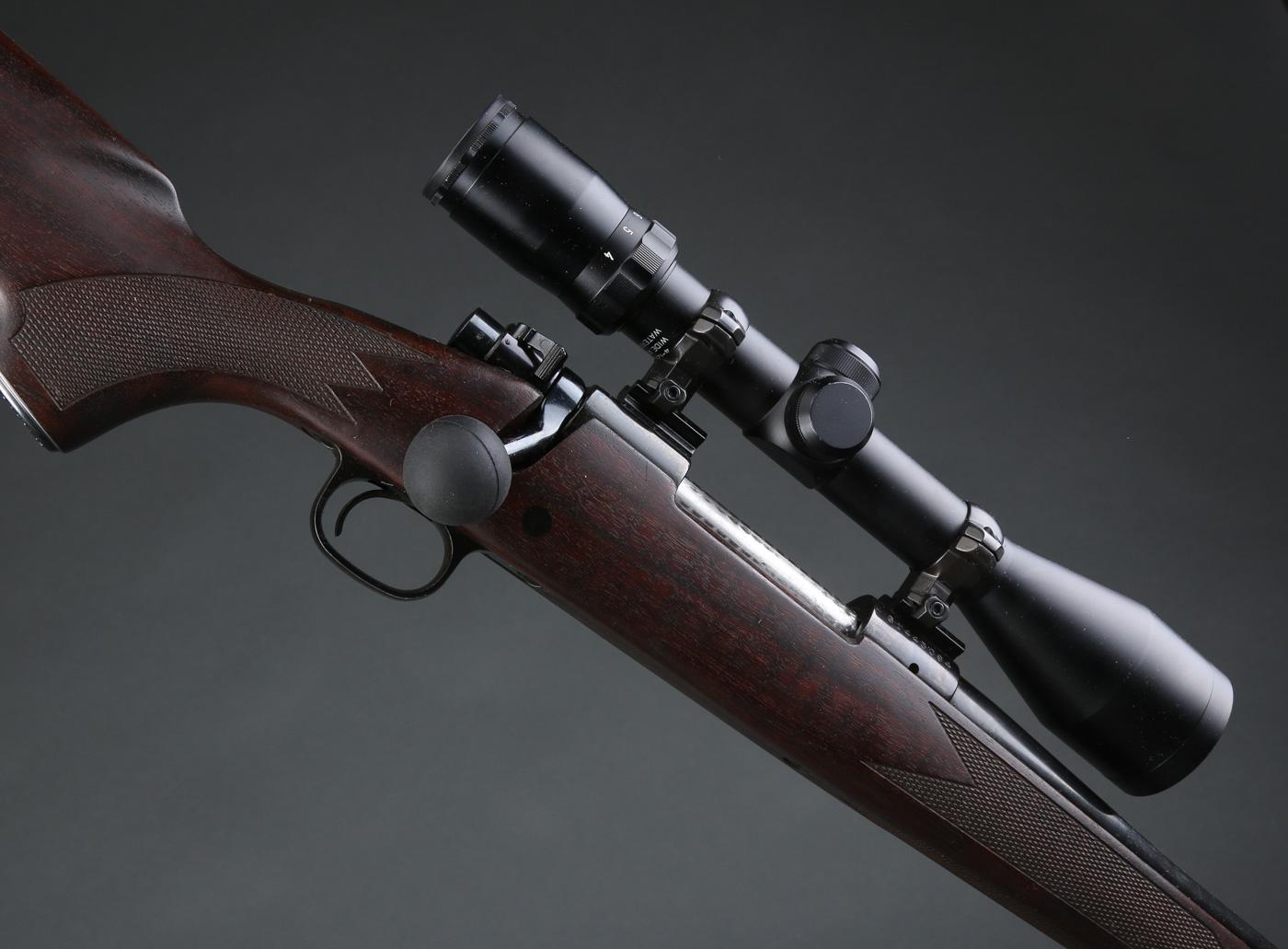 Winchester jagtriffel Model 70 XTR Kaliber 30.06 - Winchester jagtriffel Model 70 XTR Kaliber 30.06. Monteret med Fontaine 4-12x50. Våbennummer G1443094. Pibe: 54 cm. Total: 111 cm. Våbentilladelse påkræves. Seeland foderal medfølger