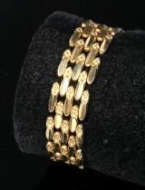 Armband aus 14 kt. Gelbgold, 5-reihig, 29,6 g