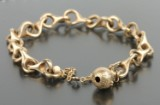 Ole Lynggaard. Bracelet and ball clasp, 14 kt. gold