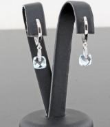 Blue topaz earrings, 2.20ct.