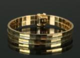 Armbånd af 14 kt guld 28,4 gr.