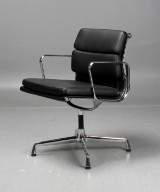 Charles & Ray Eames, Vitra. Soft Pad office chair, model EA-208, leather