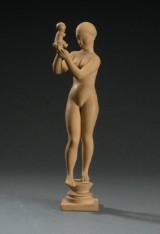 Kai Nielsen. Skulptur, 'Venus med æblet' af terracotta