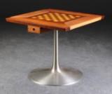 Poul Cadovius. Skakbord, palisander, ask og naturlæder