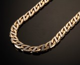 Gold chain, 14 kt gold and white gold, 125.4 g.
