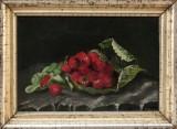 Ubekendt kunstner, motiv med jordbær 1800 tallet