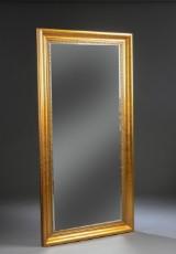 Spejl i guldfarvet