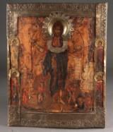 Russische Ikone Johannes der Täufer darstellend