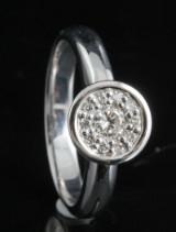 18kt handmade diamond ring approx. 0.24ct