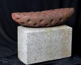 Lars Waldemar. 'Fossil Abstraktion', sculpture in iron on granite base