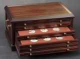 Franklin Mint medal collection, Rembrandts masterpieces, 50 silver medals in collectors' chest