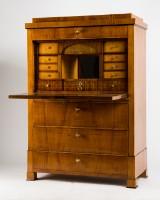 A cabinet / bureau, Biedermeier, wood / fruit tree wood