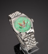Rolex Datejust. Vintage men's watch, steel, with 'American Eagle' dial, c. 1979