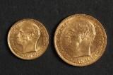 Guldmønter Frederik VIII - 20 kroner 1912 og 10 kroner 1909 (2)