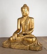 Wooden figure, Buddha, Burma, exotic wood