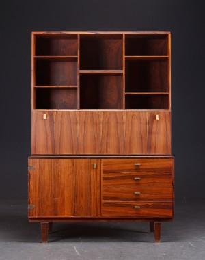 m bel p l vig skab kommode med reoloverdel palisander dk roskilde store. Black Bedroom Furniture Sets. Home Design Ideas