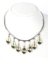 Hans Hansen. Unique necklace, sterling silver