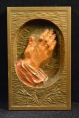 Holzbildnis, Stofa, 'Betende Hände'