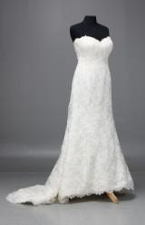 Oscar de la Renta, bröllopsklänning, siden, brodyr, strl. 16/46, Vår 2014