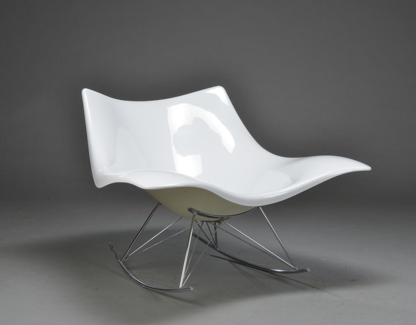 Thomas Pedersen. Stingray rocking chair, white moulded