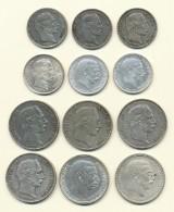 Danmark samling 1 og 2 kroner 1875-1916 sølv