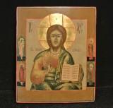 Icon, 'Jesus Pantokrator', Russia, Ural School, 19th century