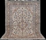 A pale Keshan carpet, Persia, 342 x 245