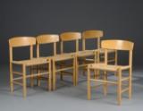 Børge Mogensen. Fem shakerstole af bøgetræ (5)