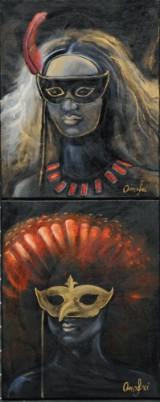 Branka Pivas Onofri, akryl på lærred, figurkompostioner (2)