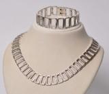 Randers Sølvvare, klassisk smykkesæt - halskæde samt armbånd af sterling sølv