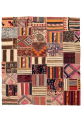Persisk kelim patchwork, 250X221 cm.