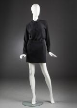 Saint Laurent, nederdel samt skjorte, uld og silke, str. 38 (2)