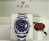 Rolex Date. Men's watch, steel with black dial with date, c. 2007
