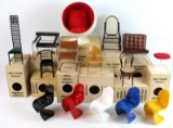 A collection miniature furniture classics from the Vitra Design Museum Miniatures Collection (15)