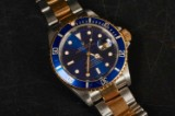 Rolex Submariner men's watch, 18 kt. gold and steel, ref. 16613. c. 2002