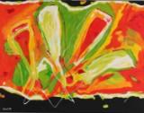 Elsabeth Kloster Palm. Komposition. Akryl på lærred