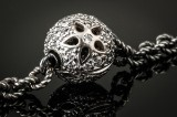 Ole Lynggaard. Grey quartz bead necklace and Blonde diamond clasp in 18 kt. white gold