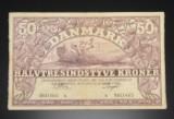 Danmark. 50 kroner pengeseddel 1951