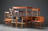 Samling møbler af teaktræ m.m. (14)