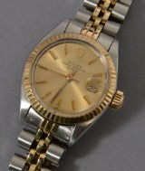 Rolex Oyster Perpetual Date ladies' watch, steel & 18 kt. gold
