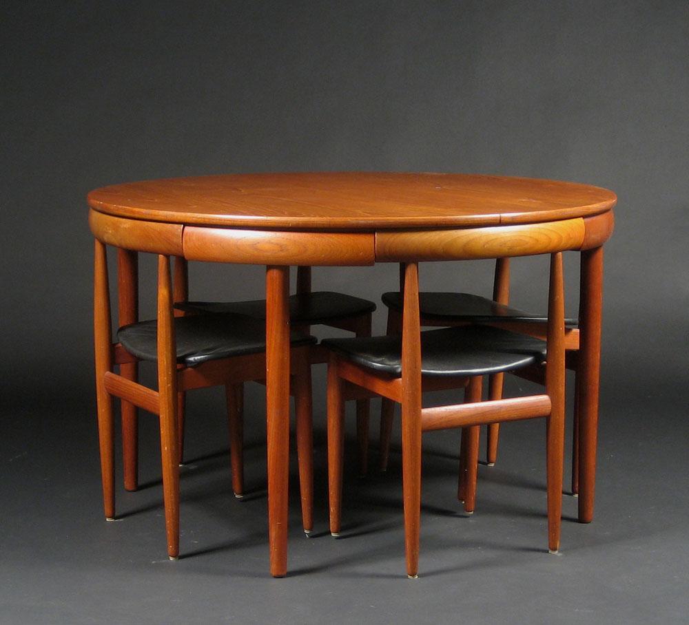 Hans Olsen Runder Esstisch Mit Vier Stühlen 5