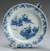 Kinesisk varmetallerken af porcelæn, 1700-tallet