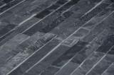 Mosaic stenvæg, antracit grå naturskifer, ca.13m²