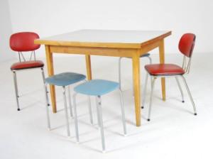 Respatex Kjøkkenbord Samt Krakkstoler 1950 Tallet 5 Lauritzcom